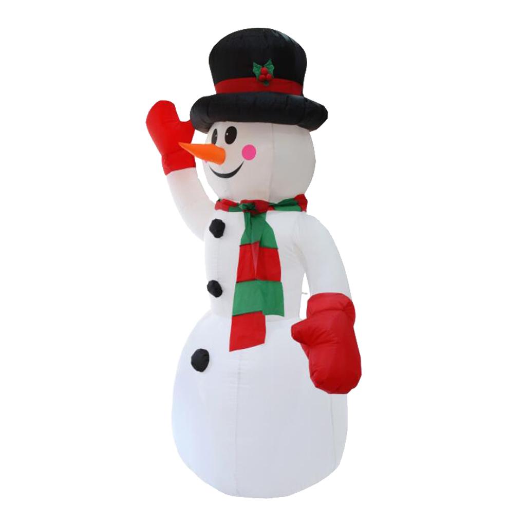 Inflatable Waving Hand Snowman Chrsitmas Festival Yard Outdoor Decor EU Plug