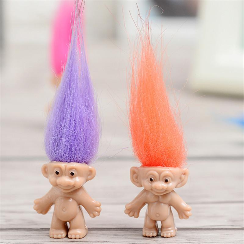 Tangled Hair Trolls Doll Whole Family Members Daddy Mummy Baby Boy Girl Leprocauns Dam Troll Figure Toy Happy Love Family Xmas Gift