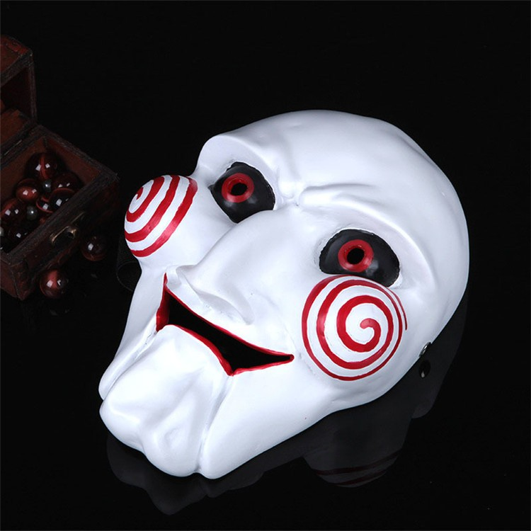 NEW Halloween Gift Electric Saw Mask Cosplay Party Horror Movie men Adult Full Face Mask Creepy Scary Resin High quality FA34 (7)