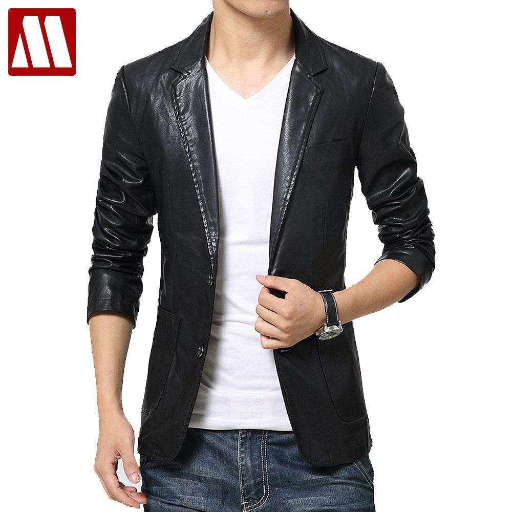 Mens Slim Fit Blzer PU Leather Jacket Flroal Printed Sports Coats
