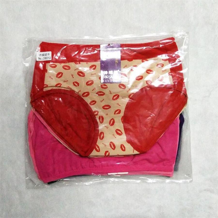 /pack On Sale Lips Printed Cute Women Panties Seamless Breathable Sweet Girls Briefs Modal Mid Waist Underwear