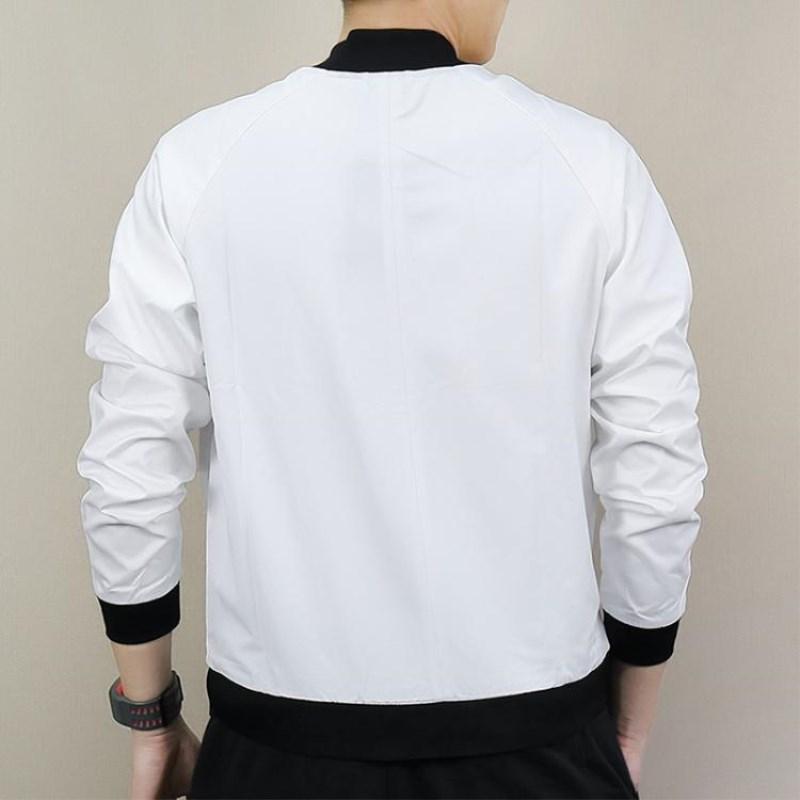 Vendita all'ingrosso Mens Coat Vendita calda di alta qualità Black White Men Casual Giacche Mens Outdoor Windbreaker Moda Baseball Uniforme S-2XL
