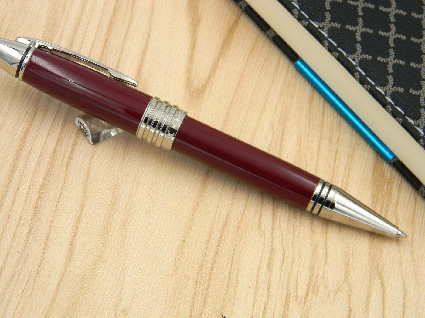 new silver Dark red metal office Quality serial number Vienna series luxury gift BALLPOINT PEN