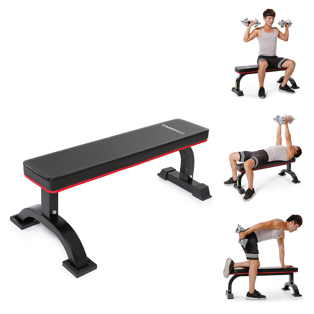 2019 2018 Tomshoo Flat Weight Chest Abdominal Bench Sit Up Bench Crunch Board Home Gym Weight Training Exercise Workout Fitness Equipment From