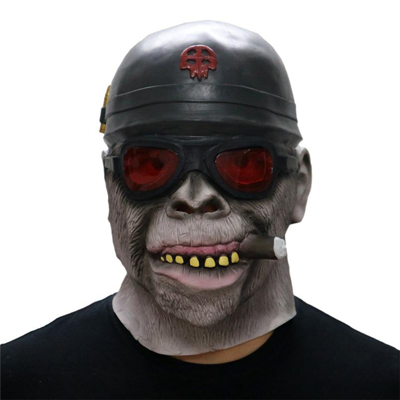Gorilla Monkey Smoking Halloween Mask Horrible Latex Nun Venom Mask Melting Face Costume Halloween Masquerade Freeshipping #FO03 (3)