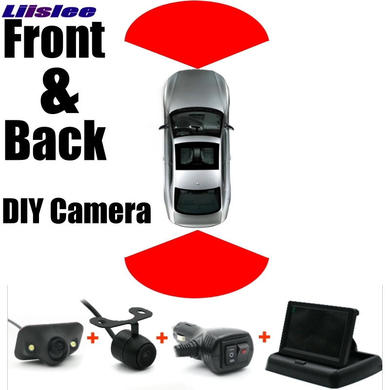 Combination Set All Car Front + Rear Camera Cigarette Power Variable Channel Blind Spots Flexible Copilot Monitor Camera View SY