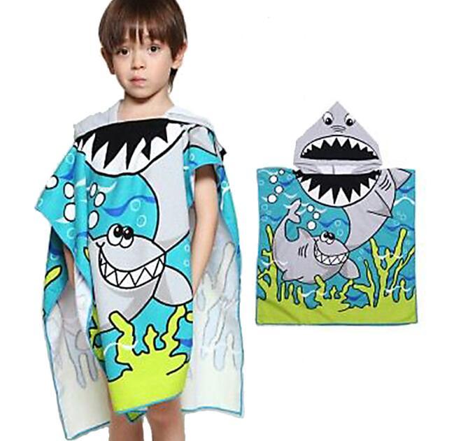 Meerjungfrau Baumwoll Strandtuch Kinder  Dusche Schwimmen Kinder Kapuzenhandtuch