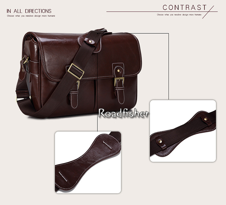 Camera leather shoulder bag 115-11