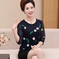 new-fashion-women-chiffon-Three-Quarter-sleeve-t-shirt-female-Office-Lady-middle-age-mother-spring.jpg_200x200