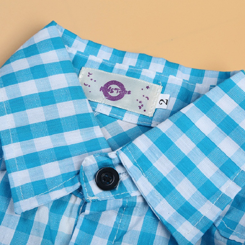Toddler Baby Boys clothes set kids loose-fitting cotton plaid shirt+ pants+ belt minion kids clothing set