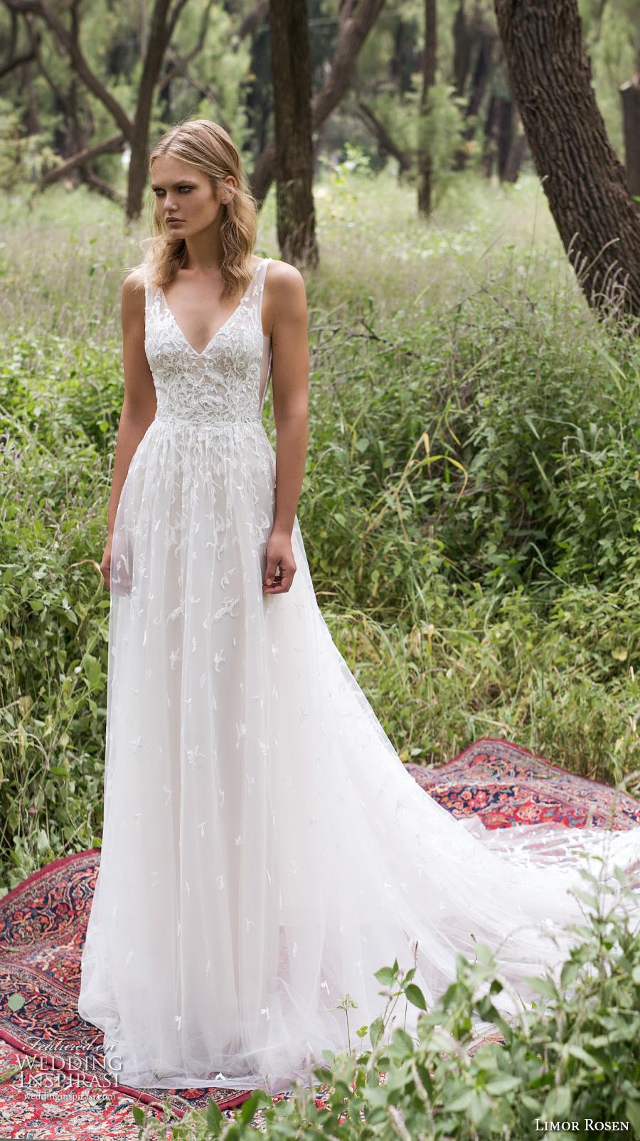 Limor Rosen 2018 Bridal Sleeveless V Neck Heavily Embellished ...