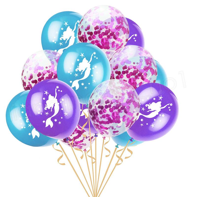 Einhorn Latex Luftballons 12 '' aufblasbare Meerjungfrau Einhörner Konfetti Gold Ballons Hochzeit Weihnachten Geburtstag Weihnachtsfeier Dekoration GGA1118