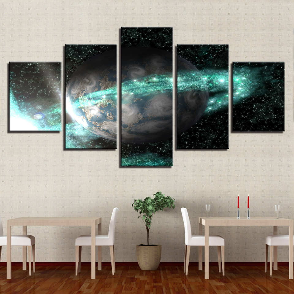 HD Wall Art Prints Pictures Classic Planet Scenery Canvas Painting Frame Poster Modular Home Restaurant Decor House Painting