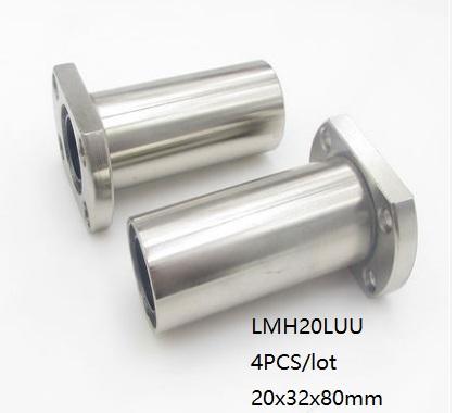 4pcs LM20LUU 20mm Long Linear Motion Bearing Ball Bushing 20x32x80mm CNC Parts