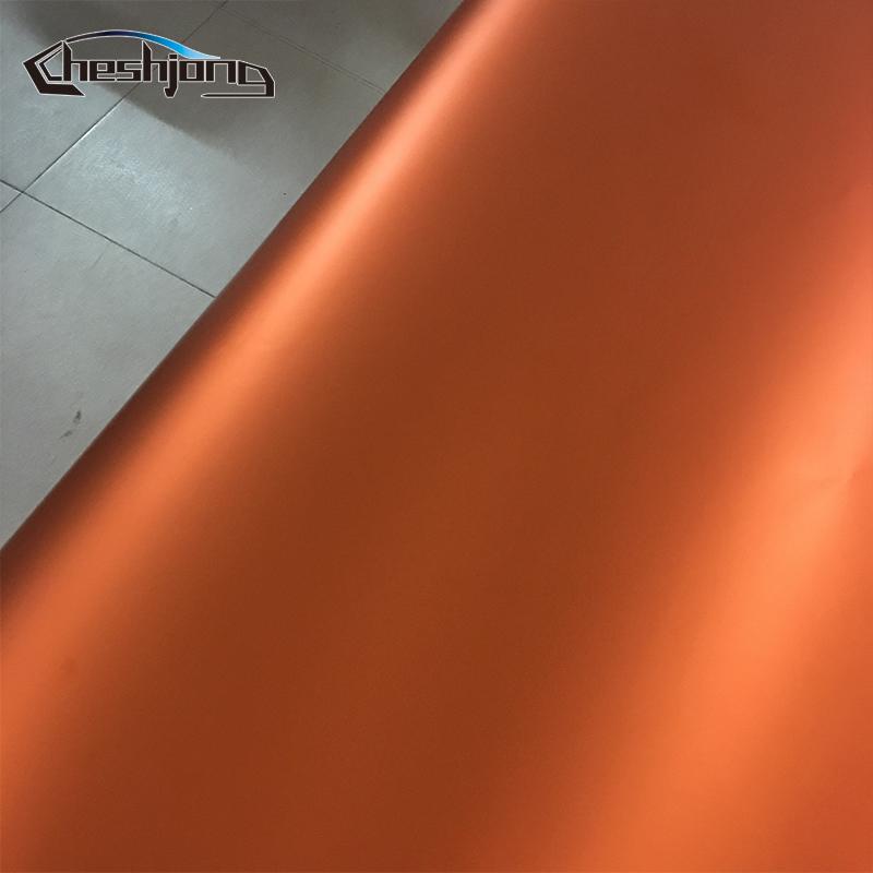 Orange-Matte-chrome-Vinyl-Film-car-sticker-12