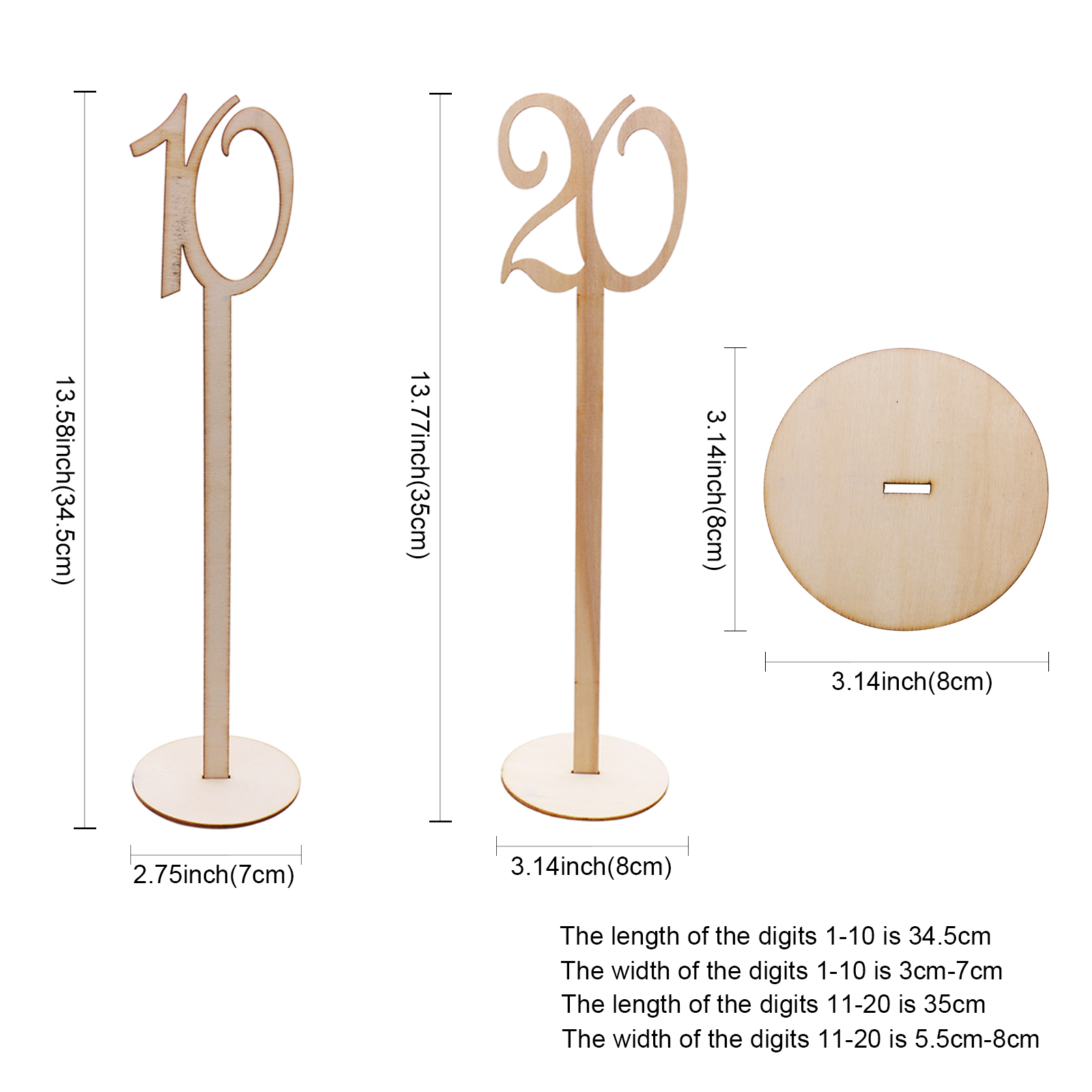 Wedding Party Hot Style Wooden Wedding Place Holder Table Number Figure Card Digital Seat Decoration Supplies