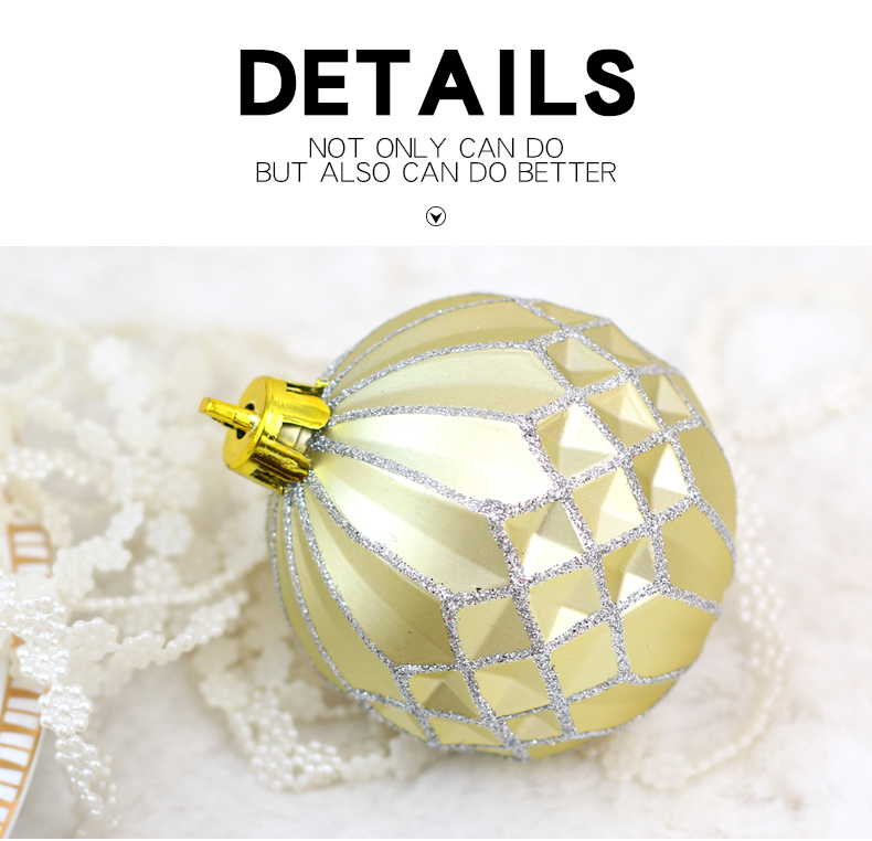 04 inhoo 50pcsset White gold balls Christmas Tree Decoration Ball Ornaments Pendant Accessories Decor For Christmas Home Party