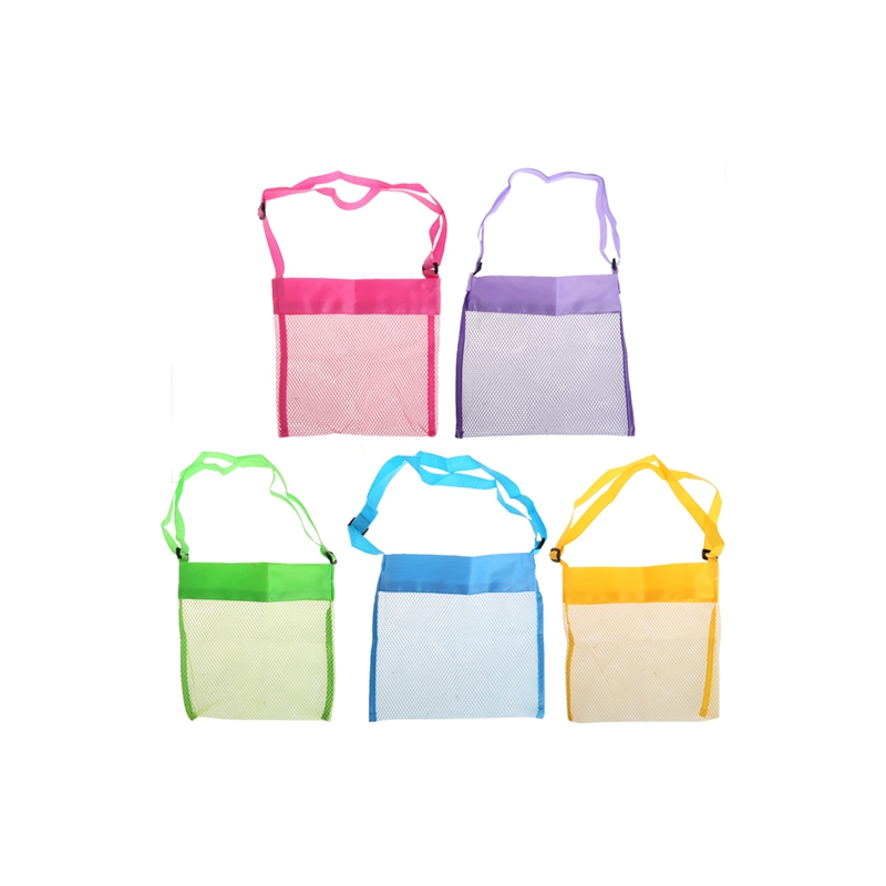 2018 neue Kinder Sand Away Mesh Strandtasche Shell Collection Kinder Sommer Strand Tote Bag Collection Trage Spielzeug Lagerung