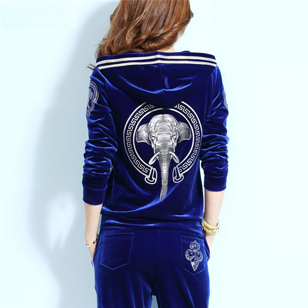 High-end-Women-Set-Brand-Velvet-Fabric-Tracksuits-Velour-2-Piece-Suit-Fashion-Printed-Hooded-Hoodies