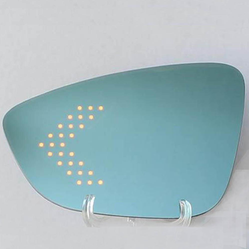 Grand Angle Bleu Côté Droit Aile Miroir Verre VW Beetle CC Eos Passat Scirocco
