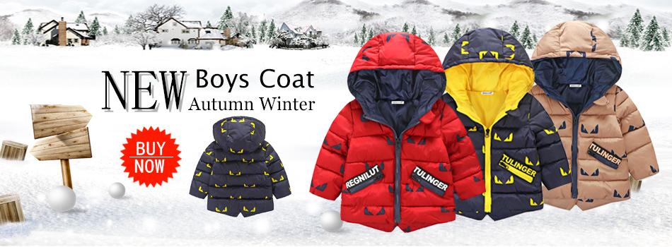 75646577486f Winter Baby Warm Down Coat Baby Boys Girls Coat Jacket Hooded Long ...