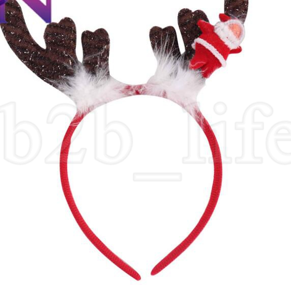 Couronne de noël wapiti bandeau bandeau paillettes bandeau bébé filles cheveux bâtons accessoires de performance de cheveux performance Headwear KKA6148