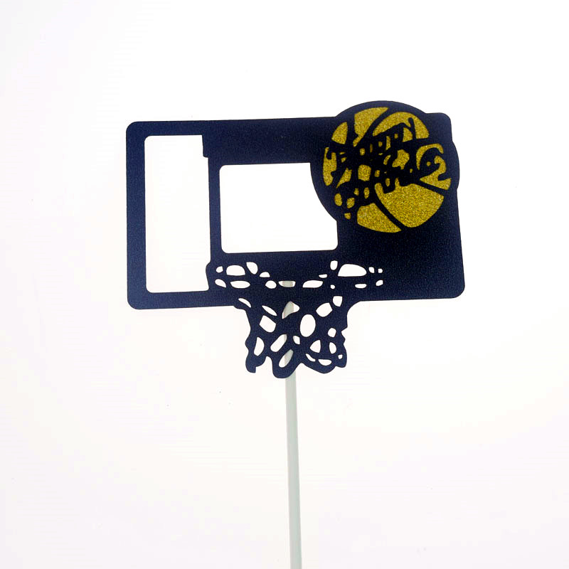 Cake Toppers Flags Happy Birthday Basketball Cupcake Cake Topper Kids Gift Wedding Bride Party Baby Shower Baking DIY Decor