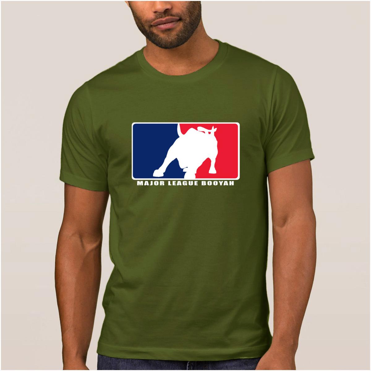 Personality Comical men's t shirt major league booyah standard weight t-shirt summer Normal tshirt for men O-Neck Graphic