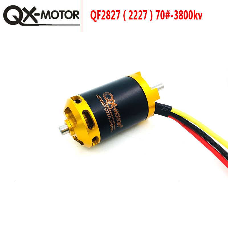 QX MOTOR QF2827 3800KV Brushless Motor for 70mm Ducted Fan 6 Blades EDF for RC Airplane