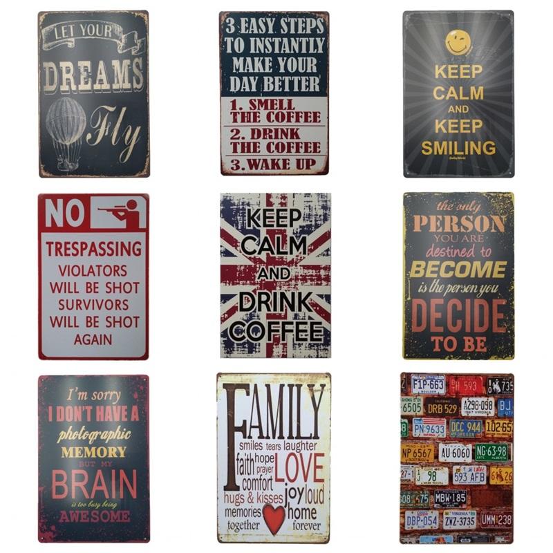 IMAGINE CREAT DREAM BECOME Tin Signs Rustic Poster Home Pub Bar Wall Decor NO907