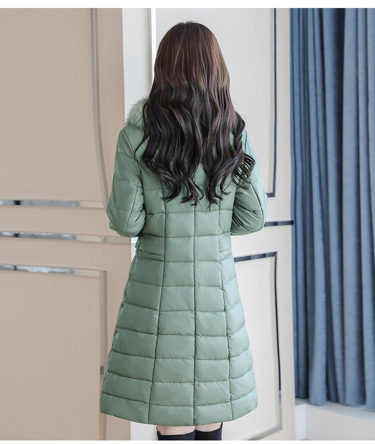 8300 Plus Size Faux Fur Collar Leather Jackets Women Slim Long Warm Down Fur Coat Elegant Top Quality Manteau Femme Hiver 5xl 2018 7