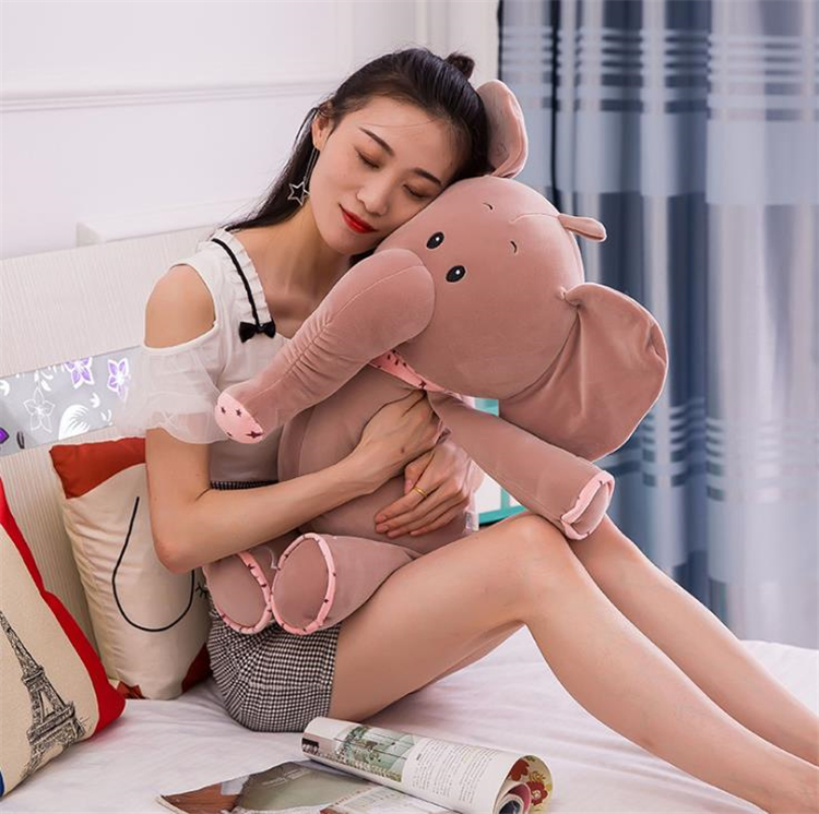 New feather cotton scarves small elephant pillow doll plush toys, very soft seat, elephant pillow Decorative Pillow I453