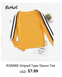 Striped Tape Sleeve Ginger Tee