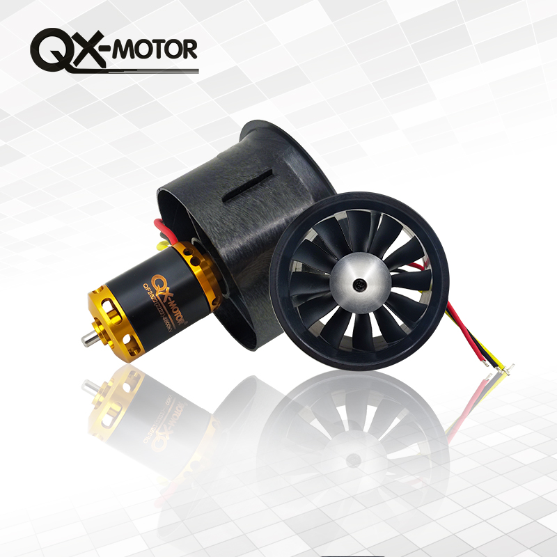 QX-MOTOR Brand New DIY Drone 64mm EDF Set 2822 3800KV Brushless Motor with 12 Blades Ducted Fan for RC Airplane Parts