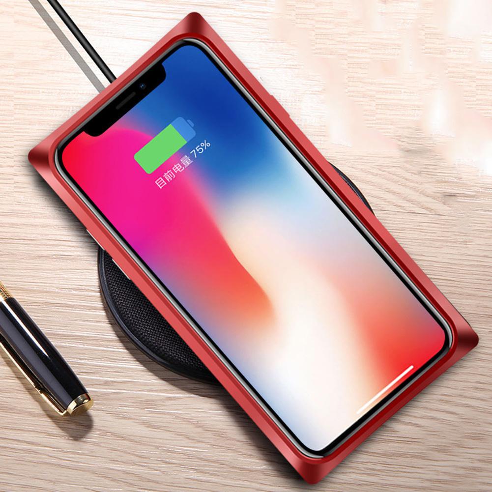 Toptan Derece Manyetik Adsorpsiyon Durumda iPhone için X 7 8 Artı Ultra Ince Kare Metal Geri Temizle Temperli Cam Mıknatıs Telefon Kapak