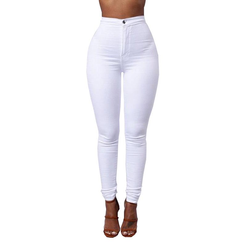 NUOVA linea donna Alte Blu Nero Skinny A Vita Alta Taglie Forti Stretch Slim Skinny Fit Jean