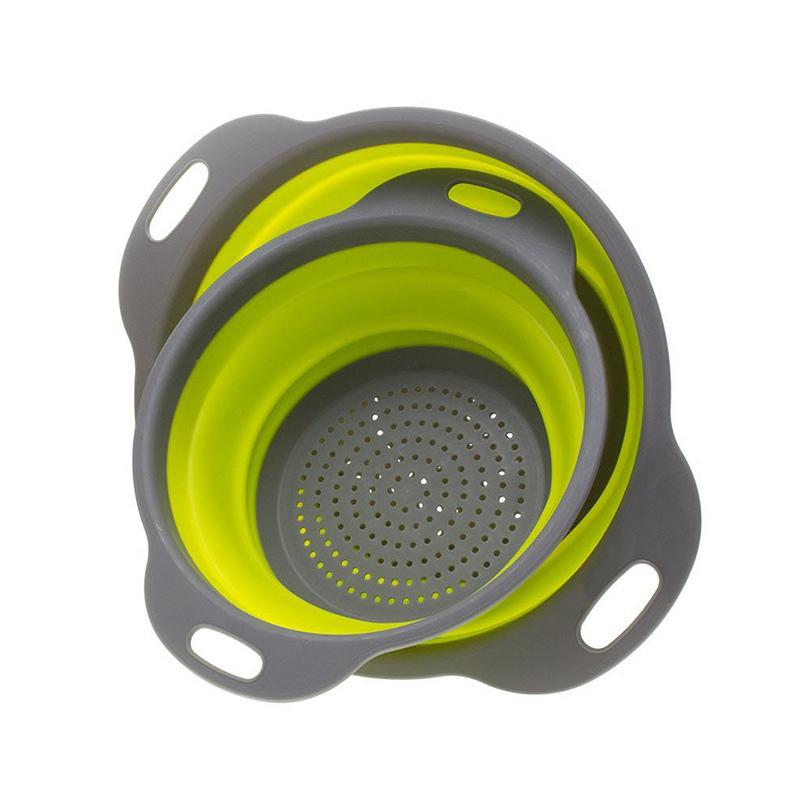 QuickDone-Silicone-Vegetable-Drain-Basket-Collapsible-Fruit-Colander-2Pcs-Mesh-Strainer-Home-Kitchen-Cutlery-Shelving-CKC1533