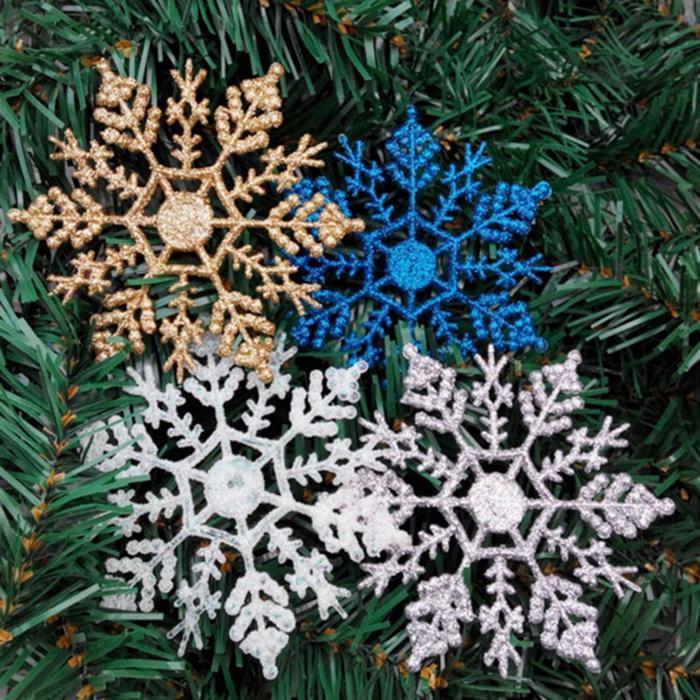 Congelé Flocons de Neige Bleu Personnalisé Noël bunting
