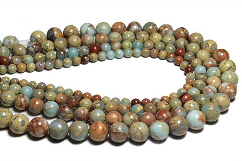 "Natural Sea Sediment Jasper Gemstone Square Cube Loose Beads 4mm 15.5/"" Pick"