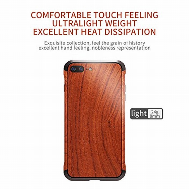 Portefeuille For iPhone 7 Wood Metal Case Aluminium Alloy Protective Bumper Case for Apple iPhone 8 Plus 6 6S Frame Accessories (3)
