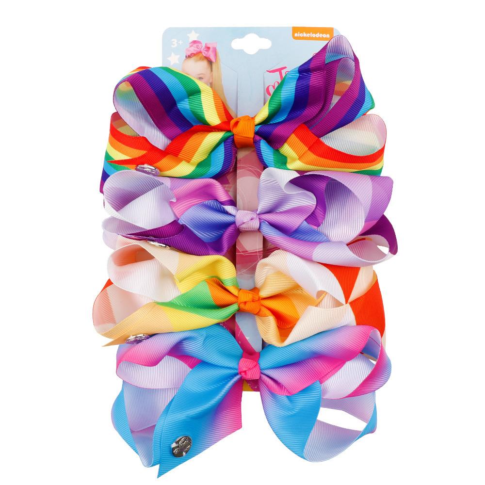 Heiße Einhorn Regenbogen Haarspangen Schnappt Haarnadel Mädchen Baby Kinderbogen