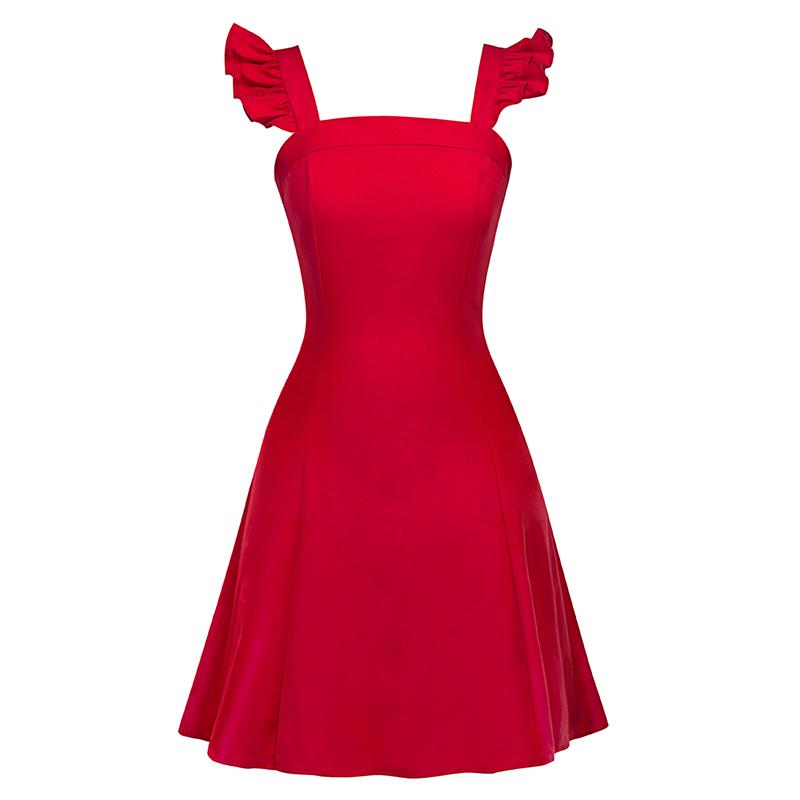 Kostlich Sexy Ball Gown Evening Party Dresses Sundress Elegant Women Summer Dress Sleeveless Swing 1950s Vintage Ruffles Dress (3)
