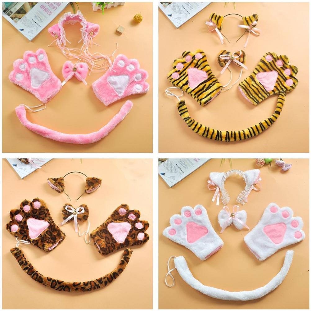 Lolita Cute Lace Cat Ears Maidservant Hair Accessory Headband Black Head Band