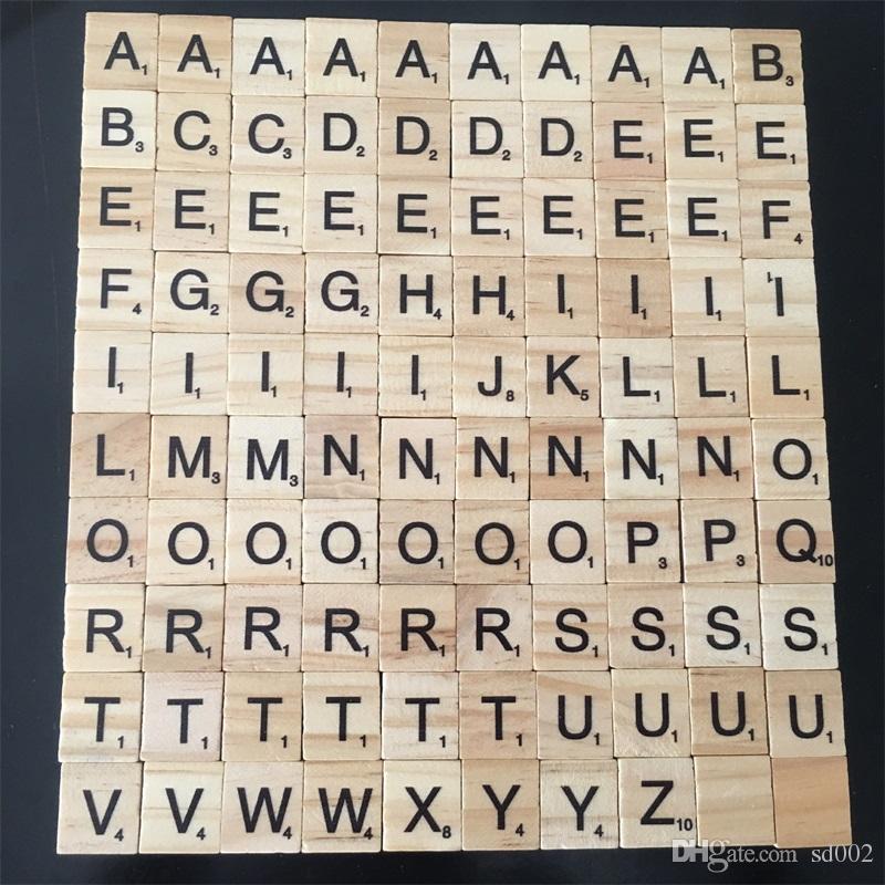 Lustiges Holzalphabet Buchstaben Scrabble Buchstaben Zahlen Spielzeug für PW
