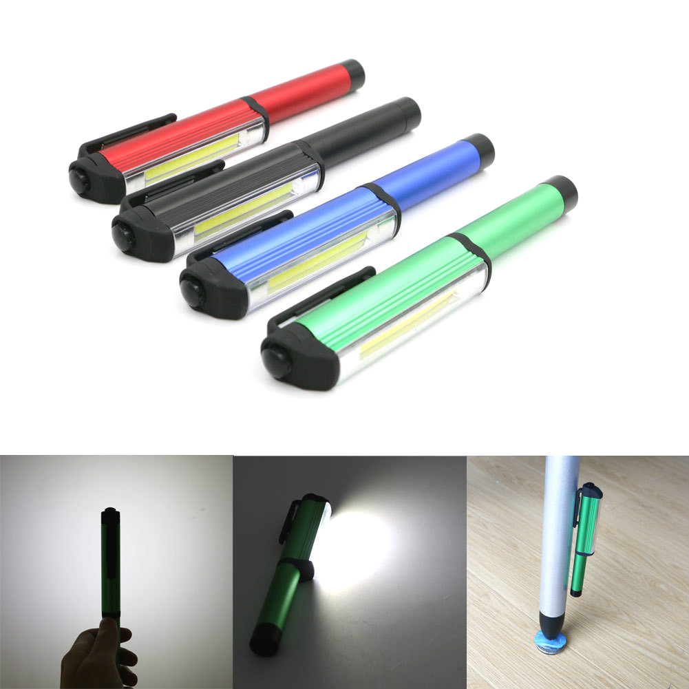 Portable Mini Pen Light Working Inspection light COB 3W LED Flashlight Magnetic Clip Hand Torch Lamp Light For home Magnetic clip car camp