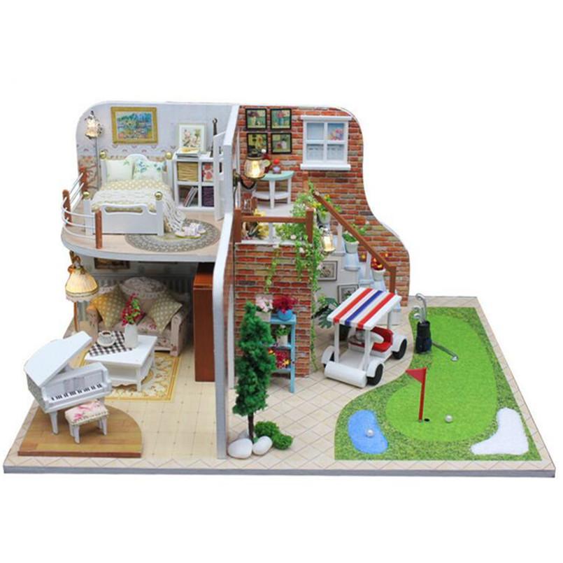 Piece.quot;Happy Timesquot; DIY Holzspielzeug Haus Miniatur 3D Holz Puzzle  Puppenhaus