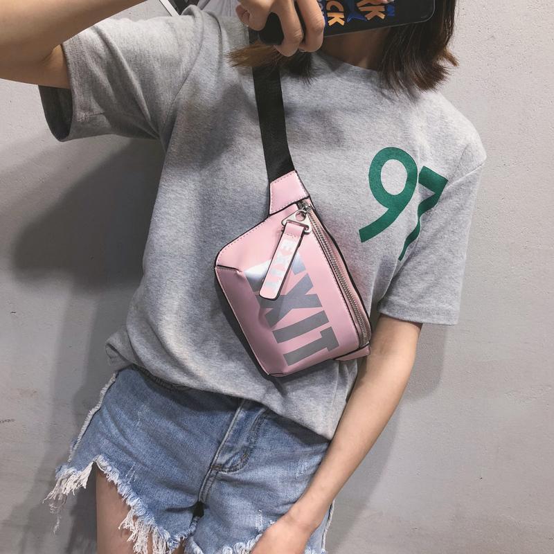 LEFTSIDE 2018 Fashion PU Leather Waist Bag Women Fanny Packs Letter EX_B0_11