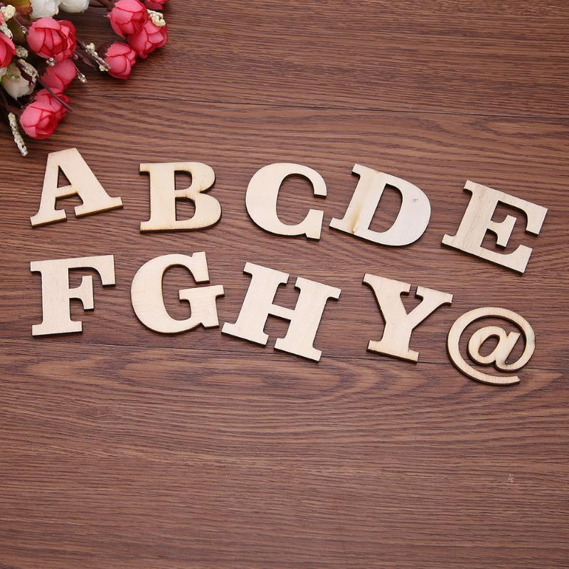 100 teile / los Holz Englisch Alphabet Buchstaben Blöcke Dekoration Spielzeug Frühe Pädagogische Spielzeug DIY Holz Handwerk für Kinder Kind Geschenk