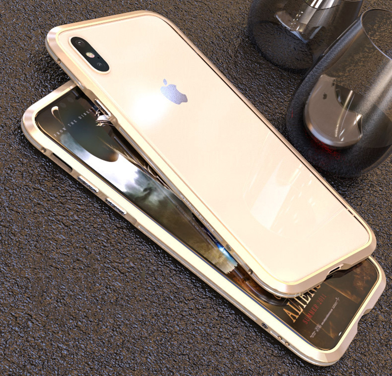 Luphie metal bumper for iphone xs max iphone x xr xs case cover Luxury dual color aluminum frame Ultra-thin Shockproof coque (10)
