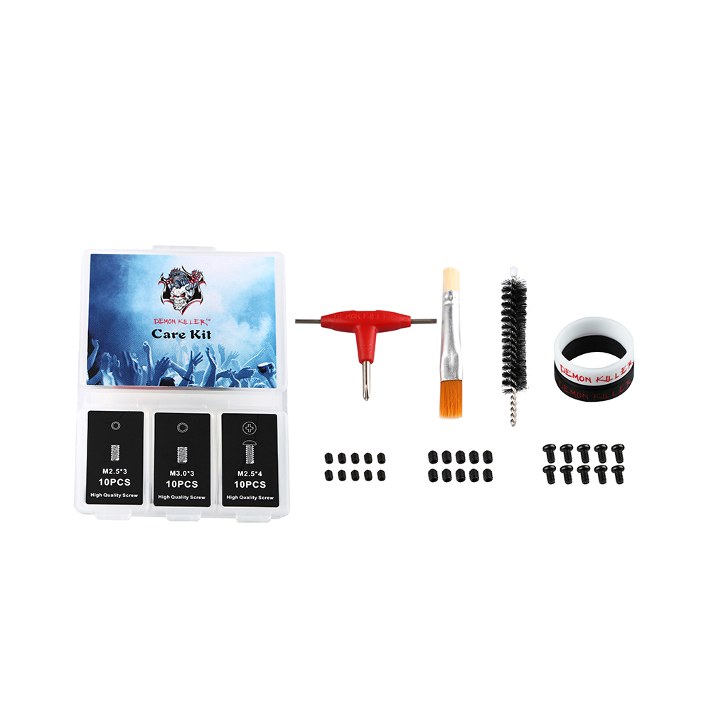 Demon killer Care Kit DIY RDA RBA Tank Atomizers Tool With Allen Key Vape Bands Hex Socket Set Screw Round Head Cross Screws